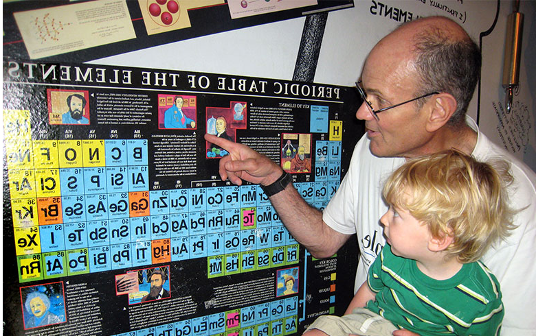 Dan Harris introduces his grandson to the periodic table