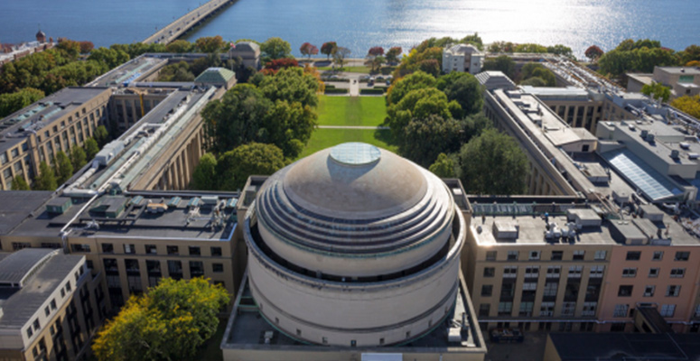 Sweeping aerial view of MIT campus
