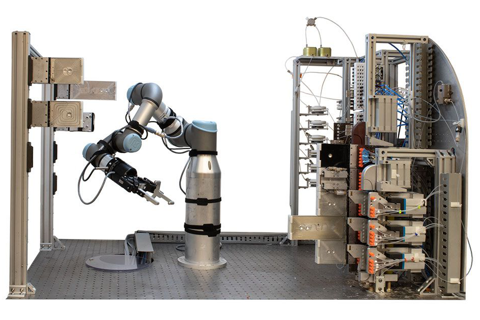 An image of the robotic device described in the caption.